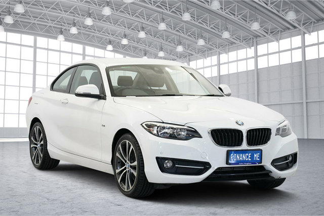 Used BMW 220d F22 Sport Line, 2016 BMW 220d F22 Sport Line White 8 Speed Sports Automatic Coupe