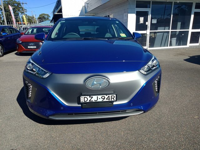 Demo Hyundai Ioniq AE.2 MY19 electric Premium, 2018 Hyundai Ioniq AE.2 MY19 electric Premium Intense Blue 1 Speed Reduction Gear Fastback