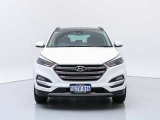 2018 Hyundai Tucson TLE2 MY18 Highlander (AWD) Polar White 7 Speed Auto Dual Clutch Wagon.