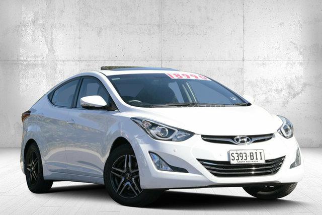 Used Hyundai Elantra MD3 Premium, 2015 Hyundai Elantra MD3 Premium Creamy White 6 Speed Sports Automatic Sedan