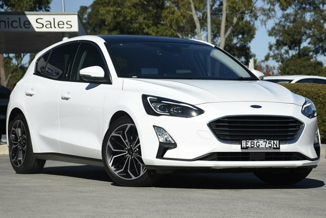 Demo Ford Focus SA 2019MY Titanium, 2018 Ford Focus SA 2019MY Titanium Frozen Brilliant White 8 Speed Automatic Hatchback