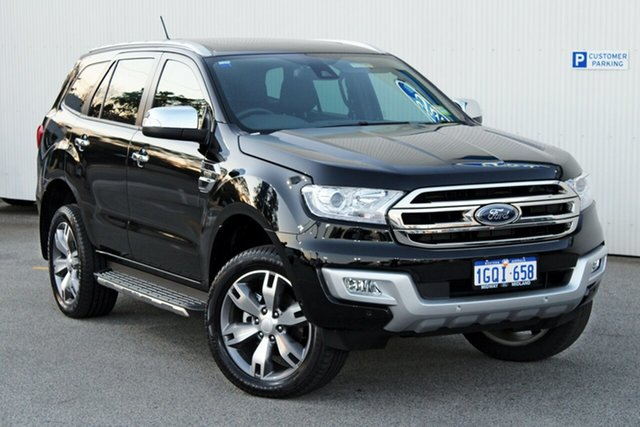 Demo Ford Everest UA 2018.00MY Titanium, 2018 Ford Everest UA 2018.00MY Titanium Shadow Black 6 Speed Sports Automatic Wagon