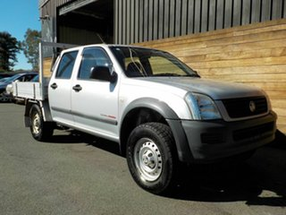 2003 Holden Rodeo RA LX Crew Cab Silver 5 Speed Manual Cab Chassis.