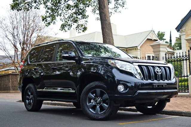 Used Toyota Landcruiser Prado KDJ150R MY14 Altitude, 2015 Toyota Landcruiser Prado KDJ150R MY14 Altitude Black 5 Speed Sports Automatic Wagon