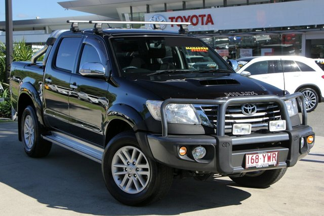 Used Toyota Hilux KUN26R MY14 SR5 Double Cab, 2014 Toyota Hilux KUN26R MY14 SR5 Double Cab Eclipse Black 5 Speed Automatic Utility