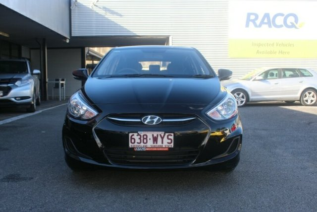 Used Hyundai Accent RB3 MY16 Active, 2016 Hyundai Accent RB3 MY16 Active Black 6 Speed Constant Variable Hatchback