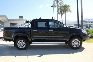 2014 Toyota Hilux KUN26R MY14 SR5 Double Cab Eclipse Black 5 Speed Automatic Utility.