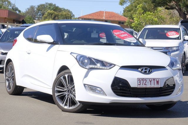 Used Hyundai Veloster FS5 Series II Coupe D-CT, 2016 Hyundai Veloster FS5 Series II Coupe D-CT White 6 Speed Sports Automatic Dual Clutch Hatchback