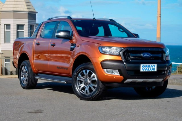 Used Ford Ranger PX MkII , 2016 Ford Ranger PX MkII Wildtrak Orange 6 Speed Sports Automatic Utility