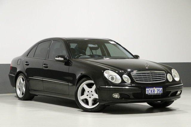 Used Mercedes-Benz E500 211 Avantgarde, 2002 Mercedes-Benz E500 211 Avantgarde Black 5 Speed Auto Touchshift Sedan
