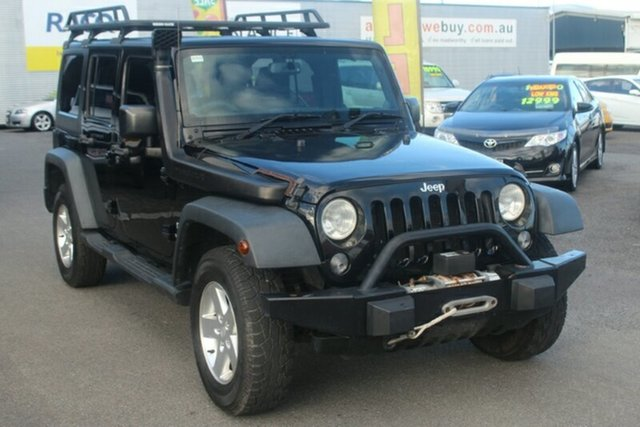 Used Jeep Wrangler JK MY2014 Unlimited Sport, 2014 Jeep Wrangler JK MY2014 Unlimited Sport Black 6 Speed Manual Softtop