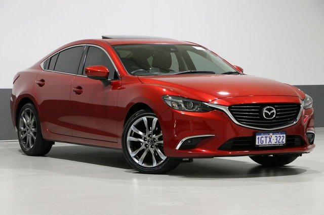 Used Mazda 6 6C MY17 (gl) GT, 2016 Mazda 6 6C MY17 (gl) GT Red 6 Speed Automatic Sedan