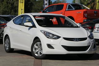 2013 Hyundai Elantra MD2 Active White 6 Speed Manual Sedan.