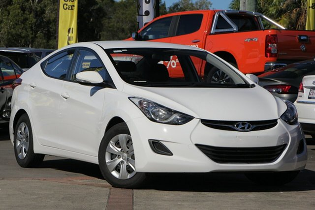 Used Hyundai Elantra MD2 Active, 2013 Hyundai Elantra MD2 Active White 6 Speed Manual Sedan