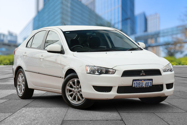 Used Mitsubishi Lancer CJ MY11 SX Sportback, 2011 Mitsubishi Lancer CJ MY11 SX Sportback White 6 Speed Constant Variable Hatchback