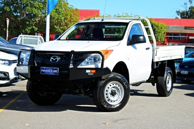 Used Mazda BT-50 UP0YF1 XT, 2015 Mazda BT-50 UP0YF1 XT White 6 Speed Manual Cab Chassis