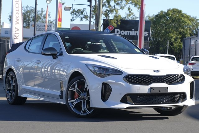 Demo Kia Stinger CK MY19 GT Fastback, 2019 Kia Stinger CK MY19 GT Fastback Snow White Pearl 8 Speed Sports Automatic Sedan
