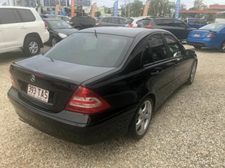 2005 Mercedes-Benz C180 W203 Classic Black 5 Speed Automatic Sedan.