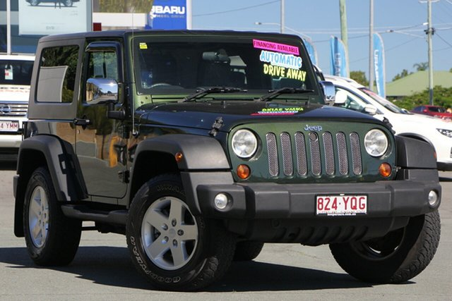 Used Jeep Wrangler JK MY2010 Sport, 2010 Jeep Wrangler JK MY2010 Sport Green 4 Speed Automatic Softtop
