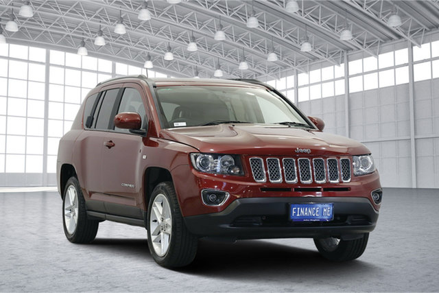 Used Jeep Compass MK MY16 Limited CVT Auto Stick, 2016 Jeep Compass MK MY16 Limited CVT Auto Stick Red 6 Speed Constant Variable Wagon