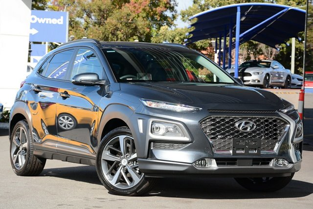 New Hyundai Kona OS.2 MY19 Highlander D-CT AWD, 2019 Hyundai Kona OS.2 MY19 Highlander D-CT AWD Dark Knight 7 Speed Sports Automatic Dual Clutch