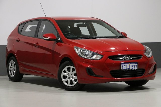 Used Hyundai Accent RB2 MY15 Active, 2014 Hyundai Accent RB2 MY15 Active Red 4 Speed Automatic Hatchback