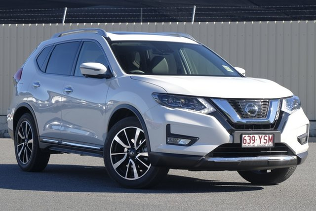 Demo Nissan X-Trail T32 Series II Ti X-tronic 4WD, 2018 Nissan X-Trail T32 Series II Ti X-tronic 4WD Ivory Pearl 7 Speed Constant Variable Wagon