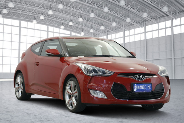 Used Hyundai Veloster FS2 + Coupe, 2013 Hyundai Veloster FS2 + Coupe Veloster Red 6 Speed Manual Hatchback