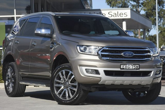 Demo Ford Everest UA II 2019.00MY Titanium 4WD, 2019 Ford Everest UA II 2019.00MY Titanium 4WD Diffused Silver 10 Speed Sports Automatic SUV