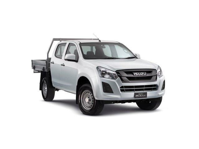New Isuzu D-MAX MY19 SX Crew Cab 4x2 High Ride, 2019 Isuzu D-MAX MY19 SX Crew Cab 4x2 High Ride Splash White 6 Speed Sports Automatic Cab Chassis
