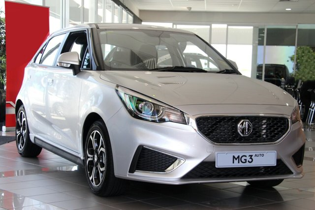 New MG MG3 SZP1 MY18 Excite, 2019 MG MG3 SZP1 MY18 Excite Scottish Silver 4 Speed Automatic Hatchback