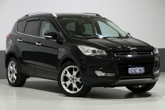 Used Ford Kuga TF Titanium (AWD), 2014 Ford Kuga TF Titanium (AWD) Black 6 Speed Automatic Wagon