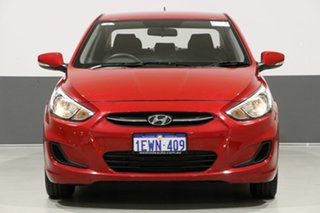 2015 Hyundai Accent RB2 Active Red 4 Speed Automatic Sedan.
