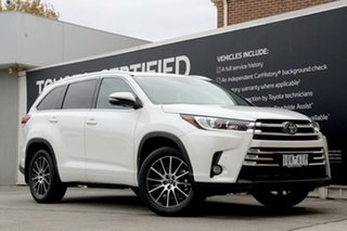 2018 Toyota Kluger GSU55R Grande AWD Crystal Pearl 8 Speed Sports Automatic Wagon.