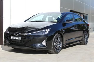 2018 Hyundai Elantra AD.2 MY19 Sport Premium Phantom Black 7 Speed Automatic Sedan.