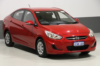 2015 Hyundai Accent RB2 Active Red 4 Speed Automatic Sedan