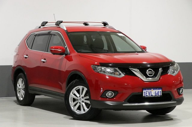Used Nissan X-Trail T32 ST-L (FWD), 2015 Nissan X-Trail T32 ST-L (FWD) Red Continuous Variable Wagon