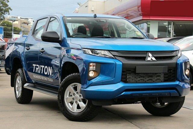 New Mitsubishi Triton MR MY19 GLX+ Double Cab, 2018 Mitsubishi Triton MR MY19 GLX+ Double Cab Impulse Blue 6 Speed Sports Aut Utility