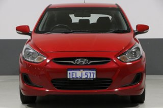 2014 Hyundai Accent RB2 MY15 Active Red 4 Speed Automatic Hatchback.