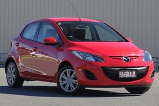 2012 Mazda 2 DE10Y2 MY13 Neo Red 5 Speed Manual Hatchback.