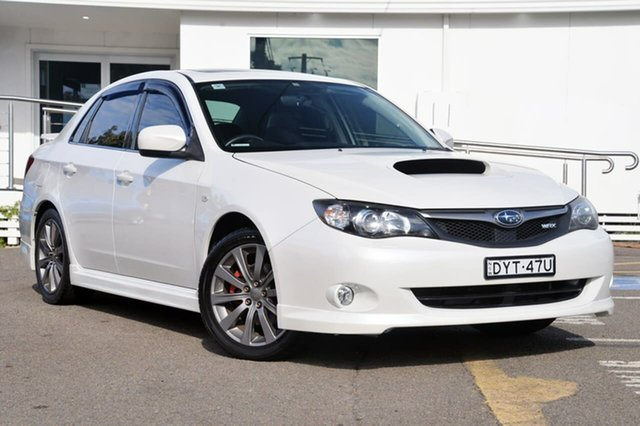 Used Subaru Impreza G3 MY09 WRX AWD, 2009 Subaru Impreza G3 MY09 WRX AWD White 5 Speed Manual Sedan