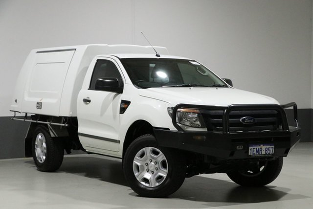 Used Ford Ranger PX XL 3.2 (4x4), 2013 Ford Ranger PX XL 3.2 (4x4) White 6 Speed Manual Cab Chassis