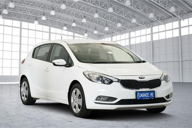 Used Kia Cerato YD MY15 S, 2015 Kia Cerato YD MY15 S White 6 Speed Sports Automatic Hatchback