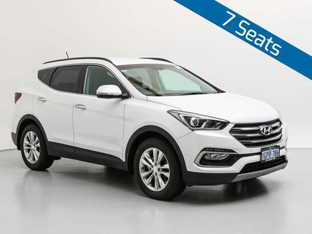Used Hyundai Santa Fe DM Series II (DM3)MY17 Elite CRDi (4x4), 2017 Hyundai Santa Fe DM Series II (DM3)MY17 Elite CRDi (4x4) White Crystal 6 Speed Automatic Wagon