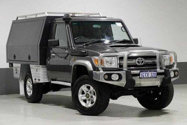 Used Toyota Landcruiser VDJ79R MY12 Update GXL (4x4), 2014 Toyota Landcruiser VDJ79R MY12 Update GXL (4x4) Graphite 5 Speed Manual Cab Chassis