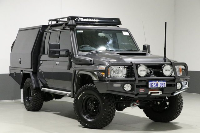 Used Toyota Landcruiser VDJ79R MY18 GXL (4x4), 2018 Toyota Landcruiser VDJ79R MY18 GXL (4x4) Graphite 5 Speed Manual Double Cab Chassis