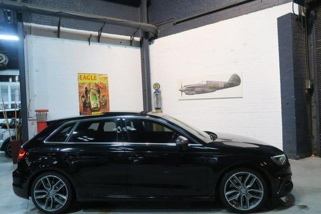 Used Audi S3 8V MY15 Sportback S Tronic Quattro, 2014 Audi S3 8V MY15 Sportback S Tronic Quattro Black 6 Speed Sports Automatic Dual Clutch Hatchback