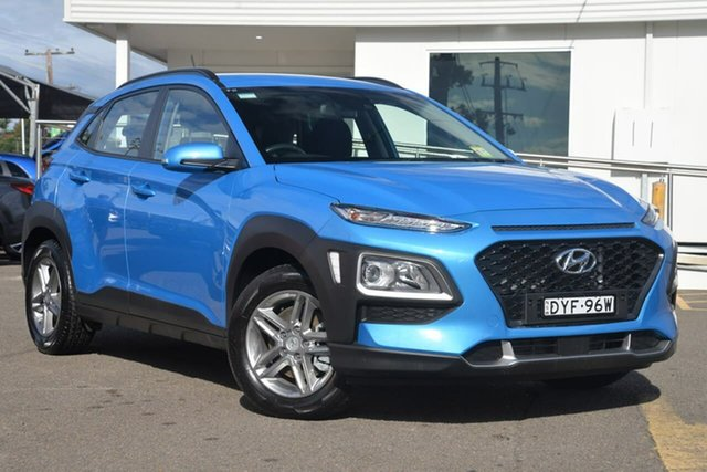 Used Hyundai Kona OS MY18 Active D-CT AWD, 2018 Hyundai Kona OS MY18 Active D-CT AWD Blue 7 Speed Sports Automatic Dual Clutch Wagon