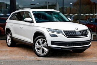 2019 Skoda Kodiaq NS MY19 132TSI DSG White 7 Speed Sports Automatic Dual Clutch Wagon.