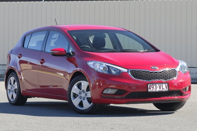Used Kia Cerato YD MY15 S, 2015 Kia Cerato YD MY15 S Temptation Red 6 Speed Sports Automatic Hatchback